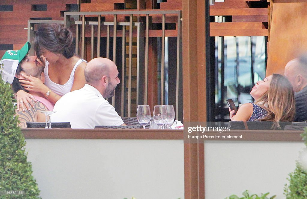 Melendi and Julia Nakamatsu are seen on September 12 2014 in Madrid Spain