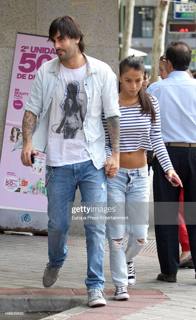 Melendi and Julia Nakamatsu are seen on September 24 2014 in Madrid Spain