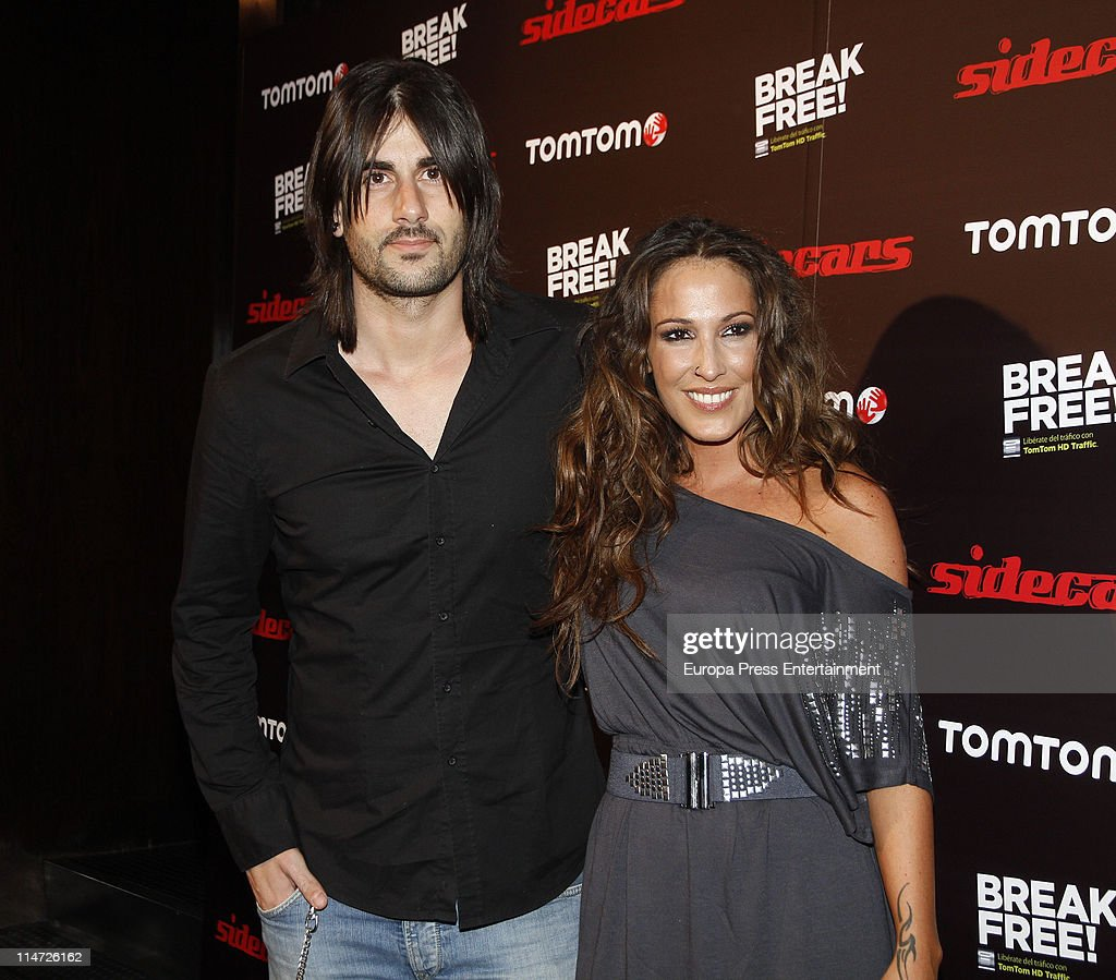 Melendi and Malu attend 'TomTom soft concert' photocall at Joy Slava disco on May 25 2011 in Madrid Spain