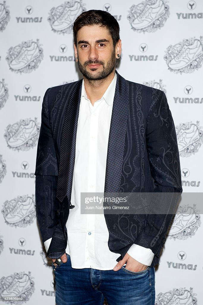 Melendi attends the New Face of Yumas presentation at ME Melia Reina Victoria Hotel on April 30 2015 in Madrid Spain