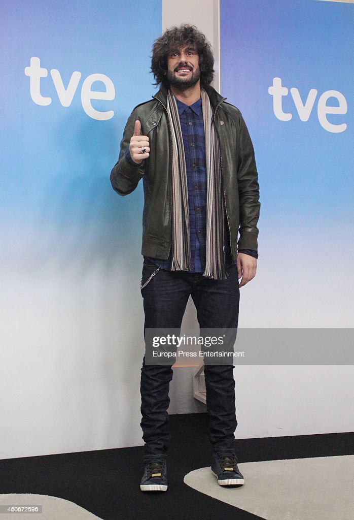 Melendi attends the presentation of the musical talent show 'HitLa Cancion' on December 18 2014 in Madrid Spain