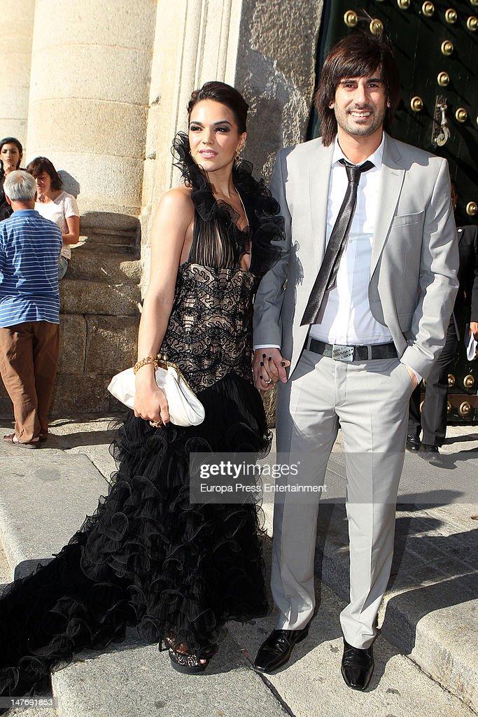 Melendi attends the wedding of Carlos Baute and Astrid Klisans on June 29 2012 in San Lorenzo de El Escoria Spain