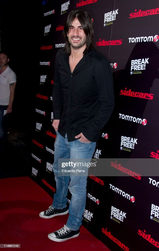 Melendi attends 'TomTom soft concert' photocall at Joy Slava disco on May 25 2011 in Madrid Spain