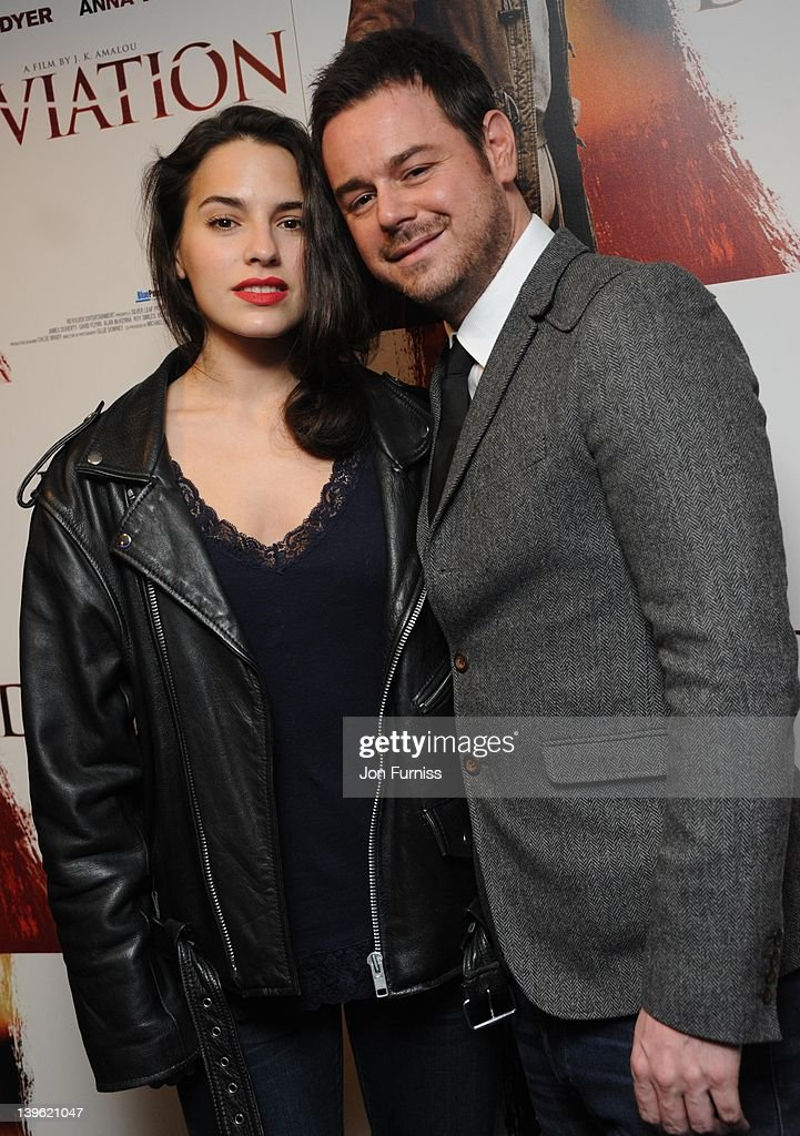Melia Kreiling and Danny Dyer attends the world premiere of 'Deviation' at Odeon Covent Garden on February 23, 2012 in London, England.