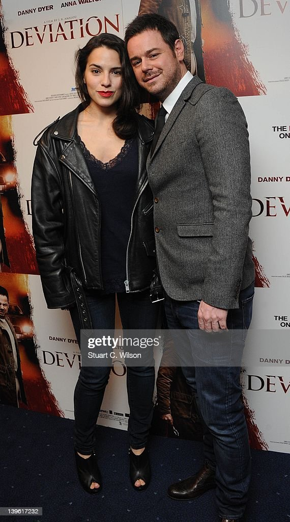 Melia Kreilling and Danny Dyer attend the Deviation World Premiere at Odeon Covent Garden on February 23, 2012 in London, England.