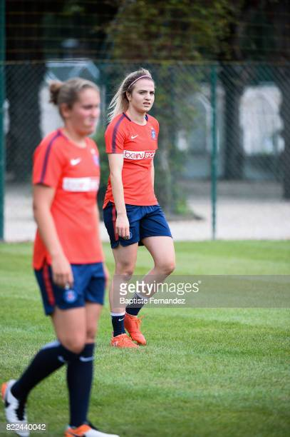 Melike Pekel of Paris Saint Germain during a training session of Paris Saint Germain at Bougival on July 25 2017 in Paris France