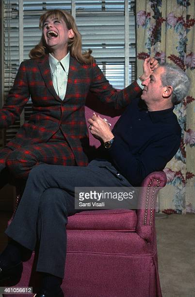 Melina Mercouri and Jules Dassin posing for a photo on December 15 1967 in New York New York