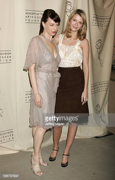 Melinda Clarke and Mischa Barton during Academy of Television Arts Sciences Presents 'The OC' Revealed at Steven Ross Theatre/Warner Bros Studios in...