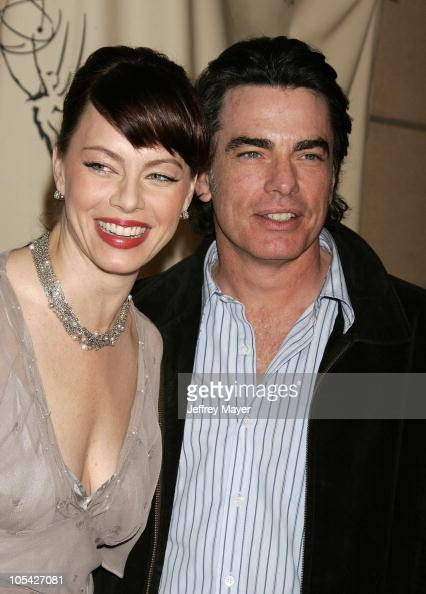 Melinda Clarke and Peter Gallagher during Academy of Television Arts Sciences Presents 'The OC' Revealed at Steven Ross Theatre/Warner Bros Studios...