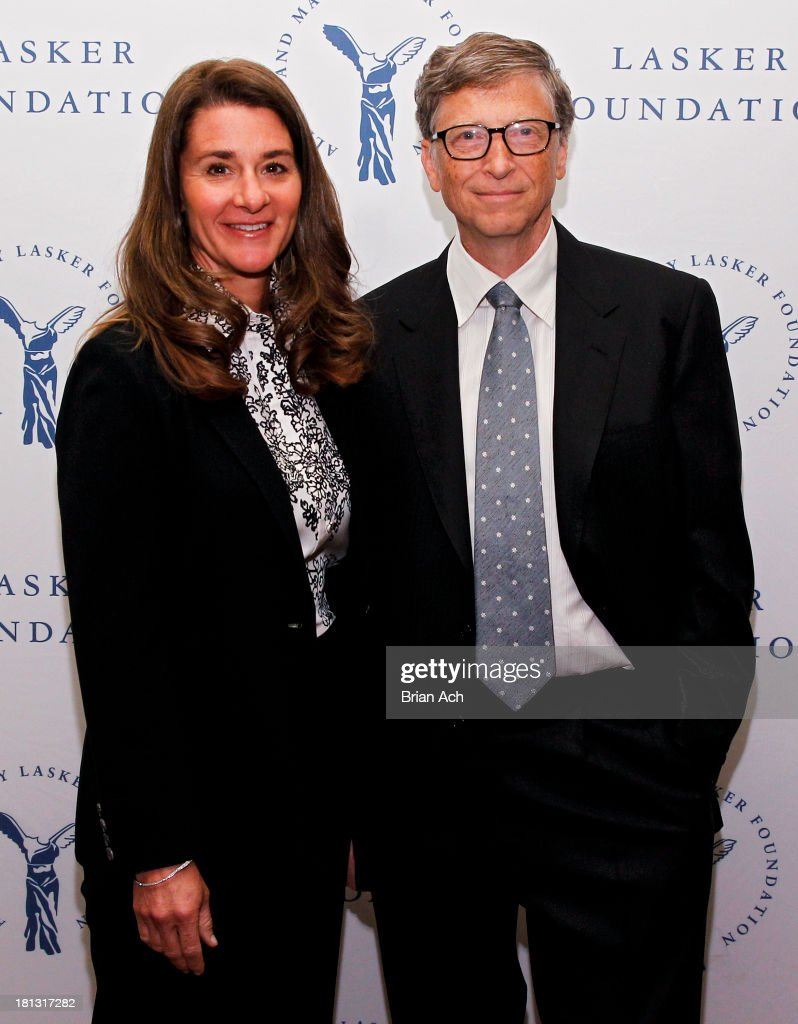 <a gi-track='captionPersonalityLinkClicked' href=/galleries/search?phrase=Melinda+Gates&family=editorial&specificpeople=224902 ng-click='$event.stopPropagation()'>Melinda Gates</a> and <a gi-track='captionPersonalityLinkClicked' href=/galleries/search?phrase=Bill+Gates&family=editorial&specificpeople=202049 ng-click='$event.stopPropagation()'>Bill Gates</a> of the Gates Foundation, winners of the Public Service Award, are seen during the The Lasker Awards 2013 on September 20, 2013 in New York City.