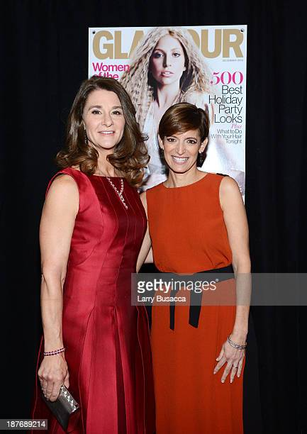 Melinda Gates and Glamour EditorinChief Cindi Leive attend Glamour's 23rd annual Women of the Year awards on November 11 2013 in New York City