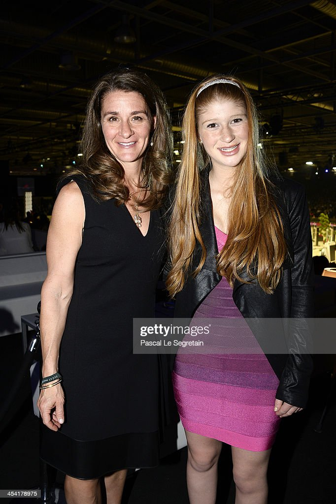 Melinda Gates and Jennifer Gates pose after the Style Competition for Amade at the Gucci Paris Masters 2013 on December 7 2013 in Paris France