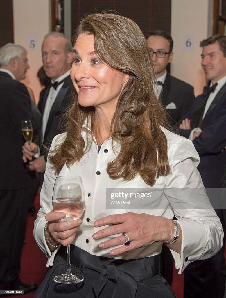 Melinda Gates attends RUSI (Royal United Services Institute) to receive the Chatham House (The Royal Institute of International Affairs) Prize 2014 from Prince William,Duke of Cambridge in the Banqueting House on November 21, 2014 in London, England.