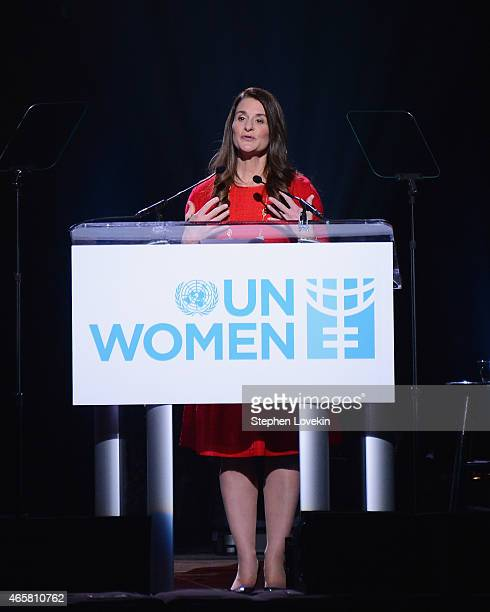 Melinda Gates attends the Step It Up For Gender Equality event celebrating the 20th anniversary of the fourth World Conference On Women in Beijing at...