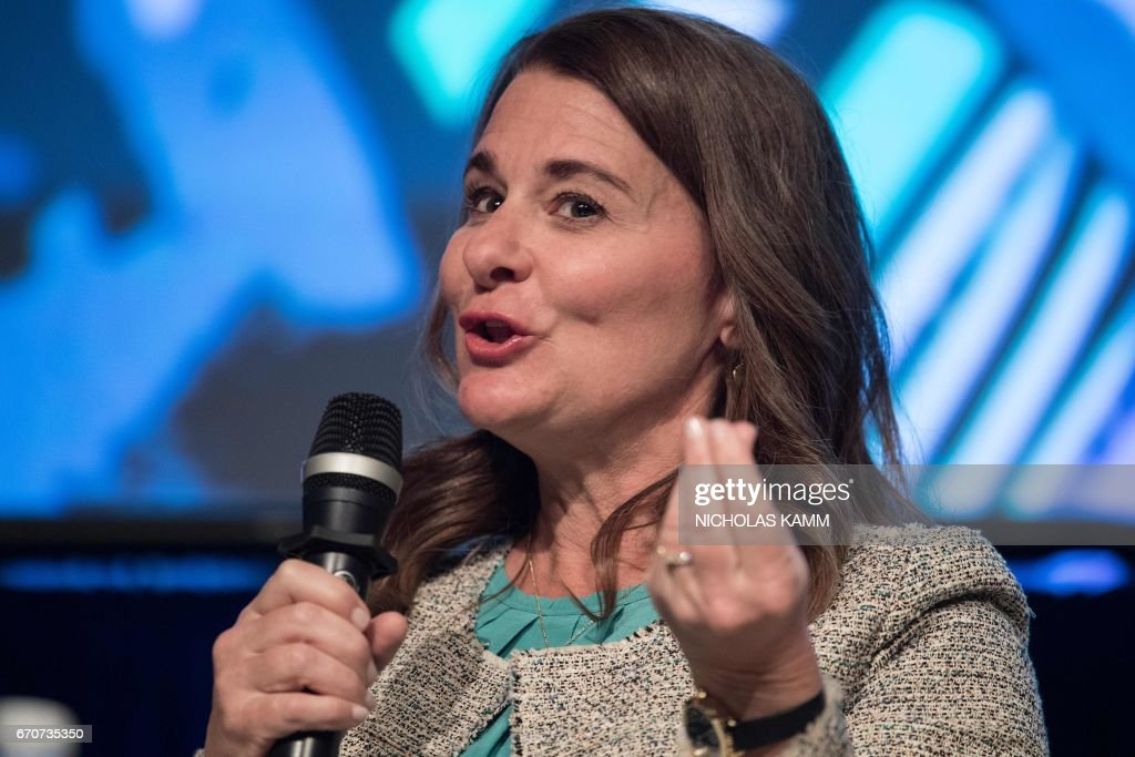 Melinda Gates, co-chair of the Bill and Melinda Gates Foundation, speaks during a discussion entitled 'Generation Now - Investing in Adolescents Today to Shape the World of Tomorrow' at the IMF/WB Spring meetings in Washington, DC, on April 20, 2017. /