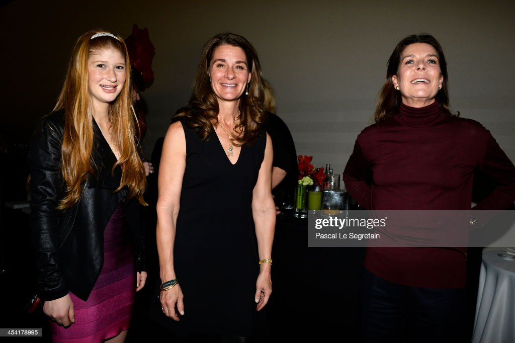 Melinda Gates Jennifer Gates and Princess Caroline of Hanover pose after the Style Competition for Amade at the Gucci Paris Masters 2013 on December...