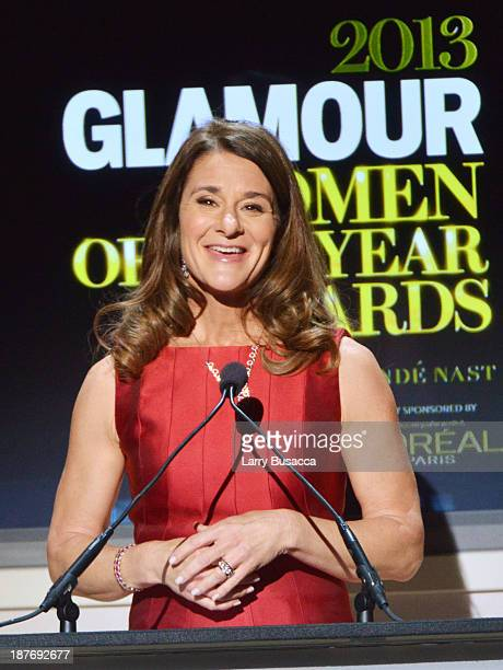 Melinda Gates speaks onstage at Glamour's 23rd annual Women of the Year awards on November 11 2013 in New York City