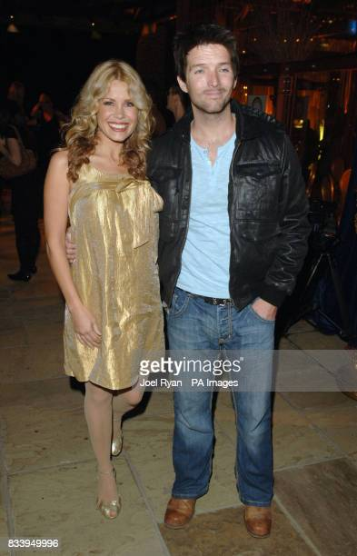 Melinda Messenger and husband Wayne Roberts at the Golden Compass World Premiere afterparty at the Tobacco Docks in London