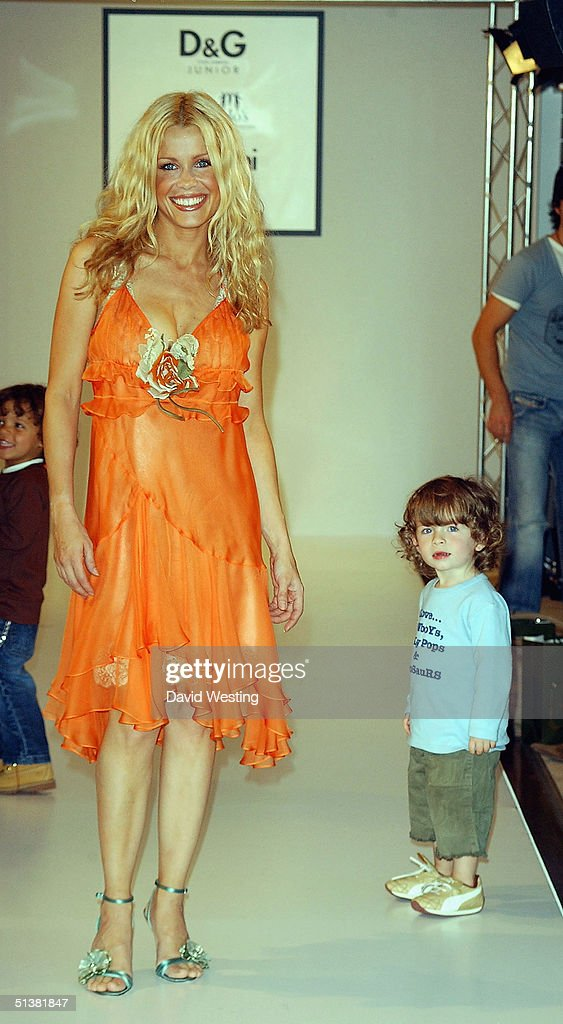 melinda messenger and one of her children attend the dg aw04 fashion picture id51381847 d&g fashion show & photocall photos and images getty images,Childrens Clothes Knightsbridge