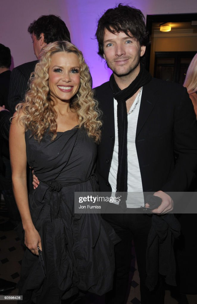 Melinda Messenger and Wayne Roberts attend the PINKTOBER Women Of Rock Charity Concert at the Royal Albert Hall on November 1 2009 in London England