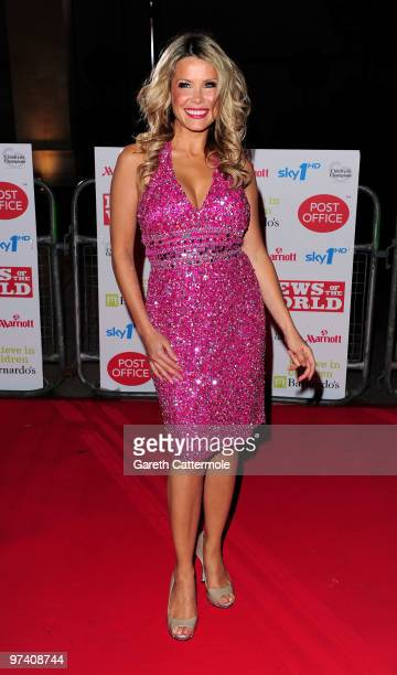 Melinda Messenger arrives at the Children's Champions 2010 Awards at the Grosvenor House Hotel on March 3 2010 in London England