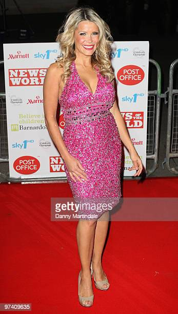 Melinda Messenger attends the Children's Champions 2010 awards at The Grosvenor House Hotel on March 3 2010 in London England