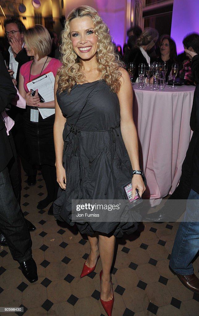 Melinda Messenger attends the PINKTOBER Women Of Rock Charity Concert at the Royal Albert Hall on November 1 2009 in London England