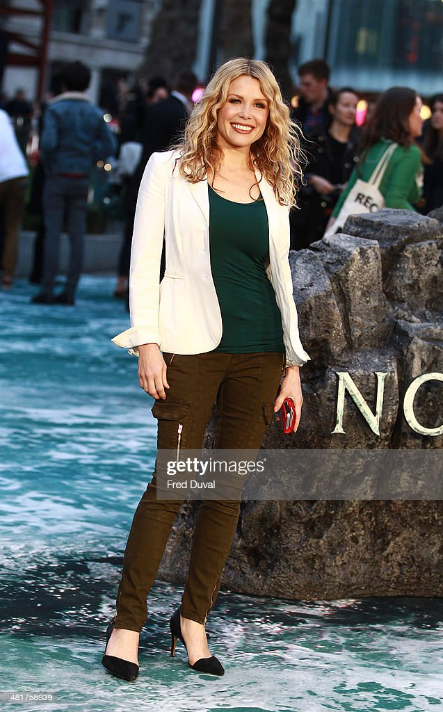 <a gi-track='captionPersonalityLinkClicked' href=/galleries/search?phrase=Melinda+Messenger&family=editorial&specificpeople=171683 ng-click='$event.stopPropagation()'>Melinda Messenger</a> attends the UK film premiere of 'Noah' at Odeon Leicester Square on March 31, 2014 in London, England.