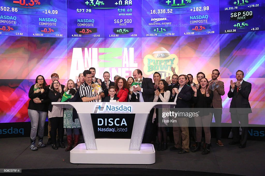 Melinda Toporoff executive producer at Animal Planet joins Discovery Communications and Animal Planet to ring the Nasdaq Closing Bell to kick off...