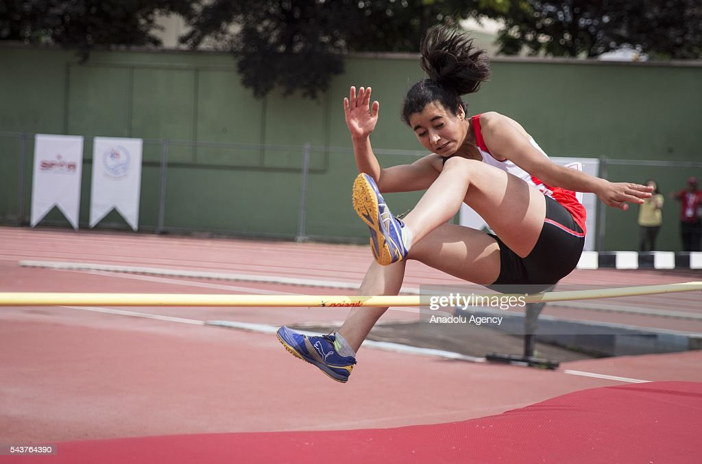 Melisa Ulas of Turkey competes in the Women's Heptathlon high jump during the INAS European Athletics Championships at the 19 Mayis Sports Complex Naili Moran Athletics Facilities in Ankara, Turkey on June 30, 2016.