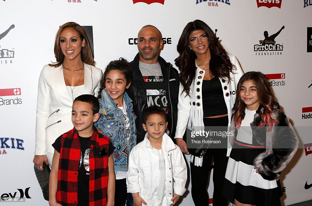 Melissa and Joe Gorga and their family attend Nike/Levi's Kids Rock Runway Show on February 11 2016 in New York City