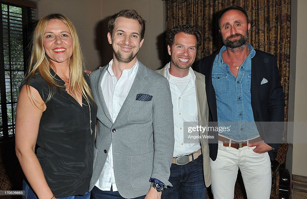 Melissa Anderson, Thomas Larson, Fuz Edwards and Nico Peyrache attend Lucky Brand's Measure of Style Dinner at Chateau Marmont on June 13, 2013 in Los Angeles, California.