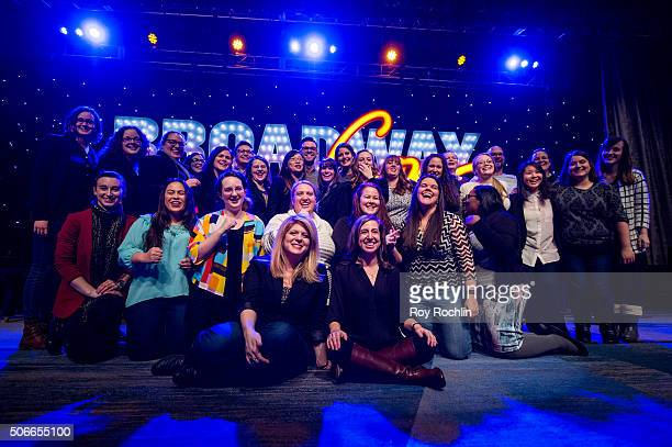 Melissa Anelli and the whole staff of BroadwayCon 2016 at the New York Hilton Midtown on January 24 2016 in New York City