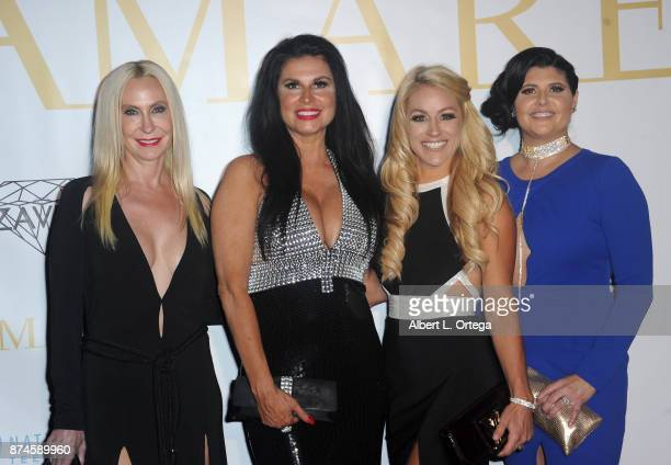 Melissa Ann Pollack Jodie Silver and Cheri Elizabeth attend Amare Magazine Presents A Black Tie Event featuring cover model Mike O'Hearn held at...