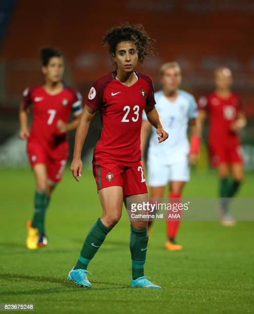 Melissa Antunes of Portugal Women during the UEFA Women's Euro 2017 match between Portugal and England at Koning Willem II Stadium on July 27 2017 in...