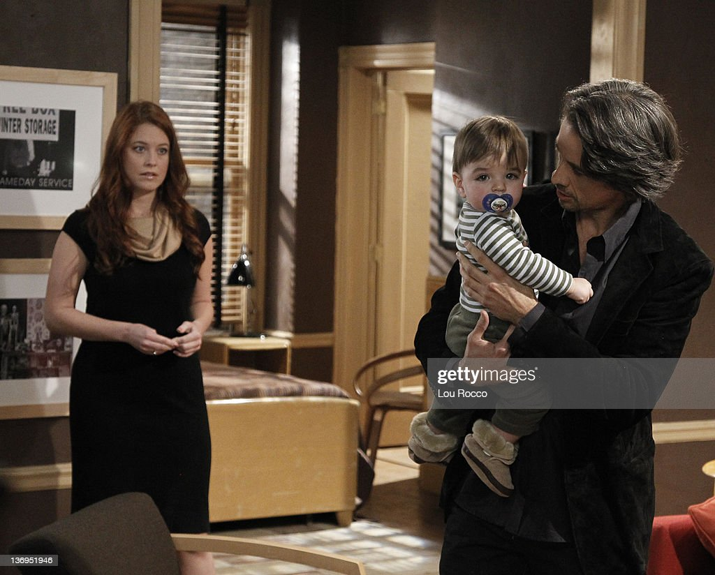 LIVE - Melissa Archer (Natalie), Christian/Gavin McGinley (Liam) and Michael Easton (John) in a scene that airs the week of January 9, 2012 on ABC Daytime's 'One Life to Live.' 'One Life to Live' airs Monday-Friday (2:00 p.m. - 3:00 p.m., ET) on the ABC Television Network. EASTON