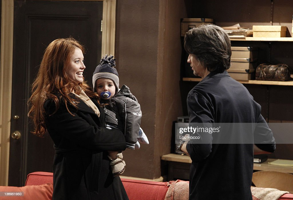 LIVE - Melissa Archer (Natalie), Christian/Gavin McGinley (Liam) and Michael Easton (John) in a scene that airs the week of January 9, 2012 on ABC Daytime's 'One Life to Live.' 'One Life to Live' airs Monday-Friday (2:00 p.m. - 3:00 p.m., ET) on the ABC Television Network. MELISSA