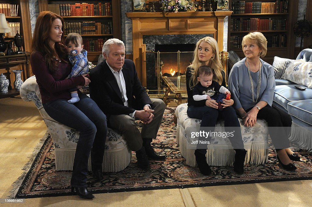LIVE - Melissa Archer (Natalie), Christian/Gavin McGinley (Liam), Jerry verDorn (Clint), Bree Williamson (Jessica), Matthew/Nicholas Urbanowics) and Erika Slezak (Viki) in a scene that airs the week of January 9, 2012 on ABC Daytime's 'One Life to Live.' 'One Life to Live' airs Monday-Friday (2:00 p.m. - 3:00 p.m., ET) on the ABC Television Network. SLEZAK