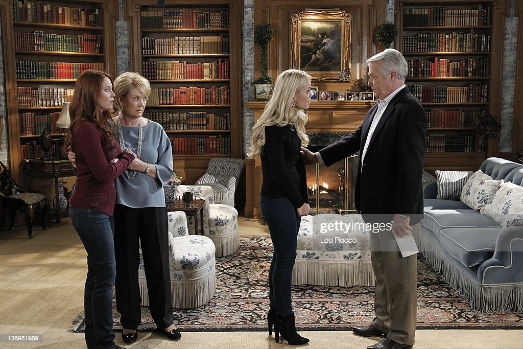 LIVE - Melissa Archer (Natalie), Erika Slezak (Viki), Bree Williamson (Jessica) and Jerry verDorn (Clint) in a scene that airs the week of January 9, 2012 on ABC Daytime's 'One Life to Live.' 'One Life to Live' airs Monday-Friday (2:00 p.m. - 3:00 p.m., ET) on the ABC Television Network. MELISSA