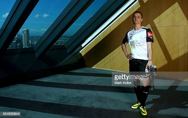 Melissa Barbieri of Adelaide United poses during the WLeague season launch at the Westfield Offices on September 8 2014 in Sydney Australia