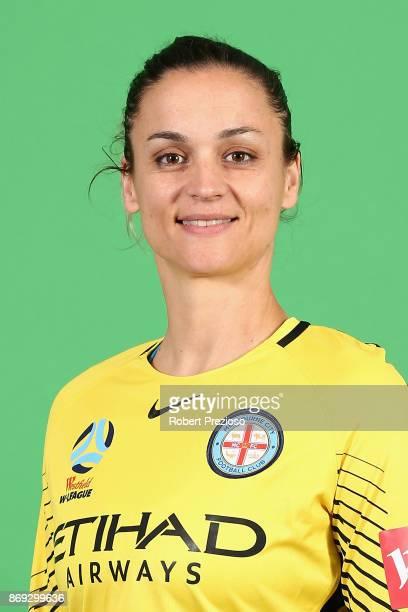 Melissa Barbieri poses during the Melbourne City WLeague headshots session on November 2 2017 in Melbourne Australia