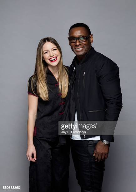 Melissa Benoist and David Harewood from CW's 'Supergirl' are photographed at Paley Fest for Los Angeles Times on March 18 2017 in Los Angeles...