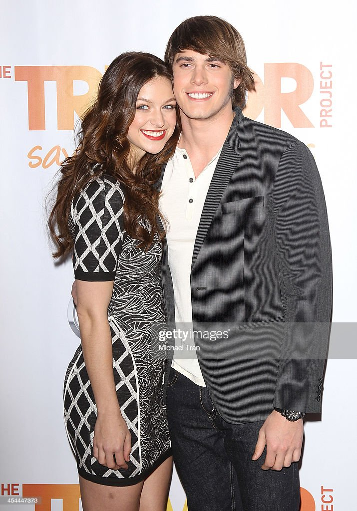 Melissa Benoist (L) and guest arrive at the 15th Annual Trevor Project Benefit held at Hollywood Palladium on December 8, 2013 in Hollywood, California.