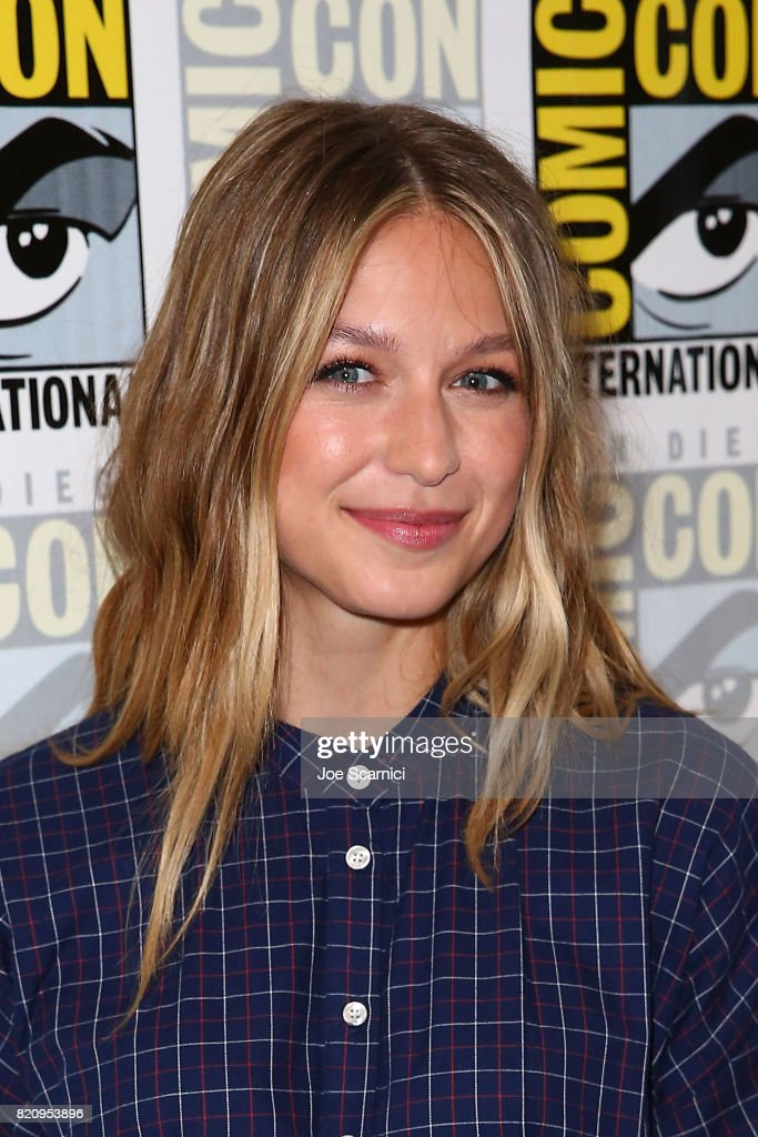 Melissa Benoist arrives at the 'Supergirl' pressline at Comic-Con International 2017 on July 22, 2017 in San Diego, California.