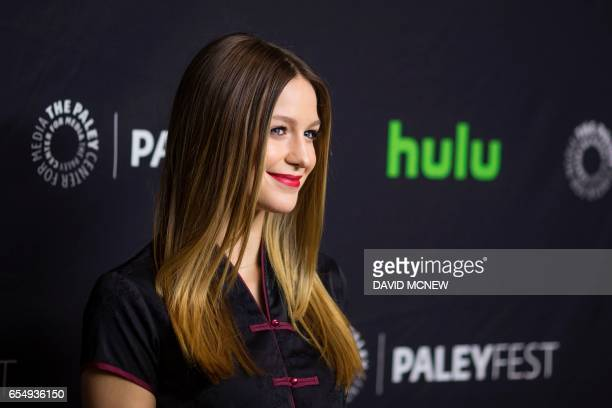 Melissa Benoist attends PaleyFest LA at the Dolby Theatre on March 18 2017 in the Hollywood section of Los Angeles California / AFP PHOTO / DAVID...