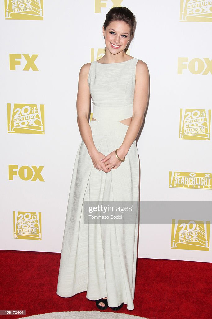 <a gi-track='captionPersonalityLinkClicked' href=/galleries/search?phrase=Melissa+Benoist&family=editorial&specificpeople=5294908 ng-click='$event.stopPropagation()'>Melissa Benoist</a> attends the FOX Golden Globe after party held at the FOX Pavilion at the Golden Globes on January 13, 2013 in Beverly Hills, California.