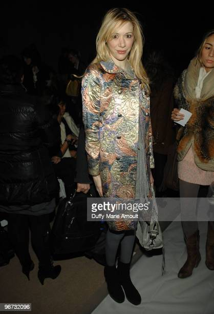 Melissa Berkelhammer attends Monique Lhuillier Fall 2010 during MercedesBenz Fashion Week at Bryant Park on February 15 2010 in New York City