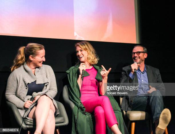 Melissa Bernstein Mackenzie Davis and Toby Huss attend The 'Halt And Catch Fire' Screening And Panel at IFC Center on October 11 2017 in New York City