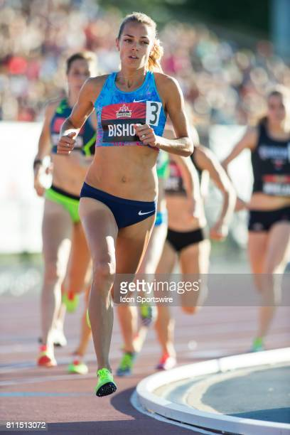 Melissa Bishop in the 800m final at the Canadian Track and Field Championships on 8 July 2017 at the Terry Fox Athletic Facility in Ottawa Canada
