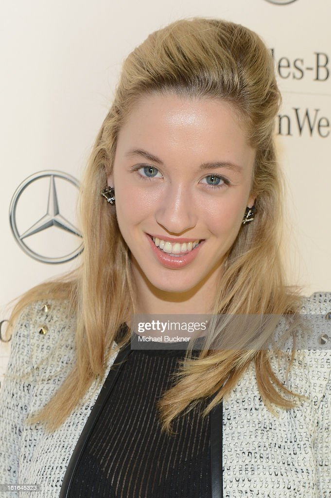 Melissa Bolona attends the Mercedes-Benz Star Lounge during Mercedes-Benz Fashion Week Fall 2013 at Lincoln Center on February 13, 2013 in New York City.